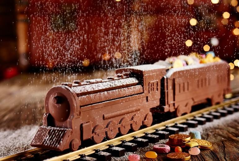 Cel mai lung tren din ciocolata are peste 34 de metri